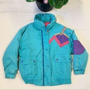 Vintage 80s Women's Izzi Snow Ski Jacket Bomber